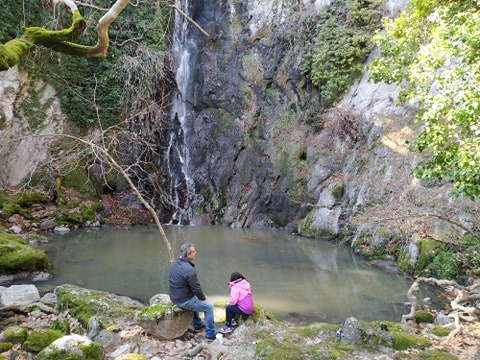 geocache in small waterfall in Lesvos