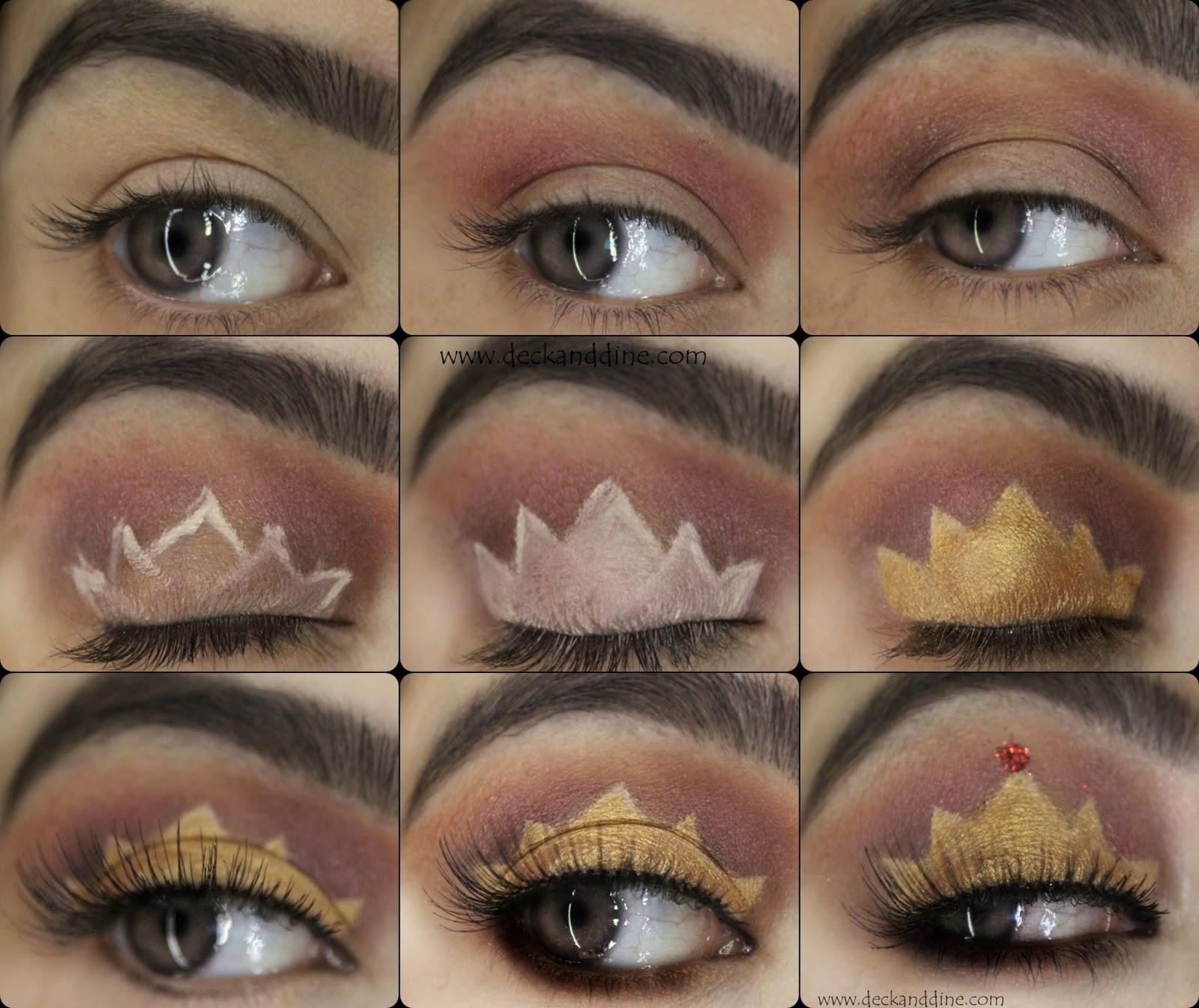 Princess Queen Crown Eye Makeup Step By Step Tutorial Deck And Dine