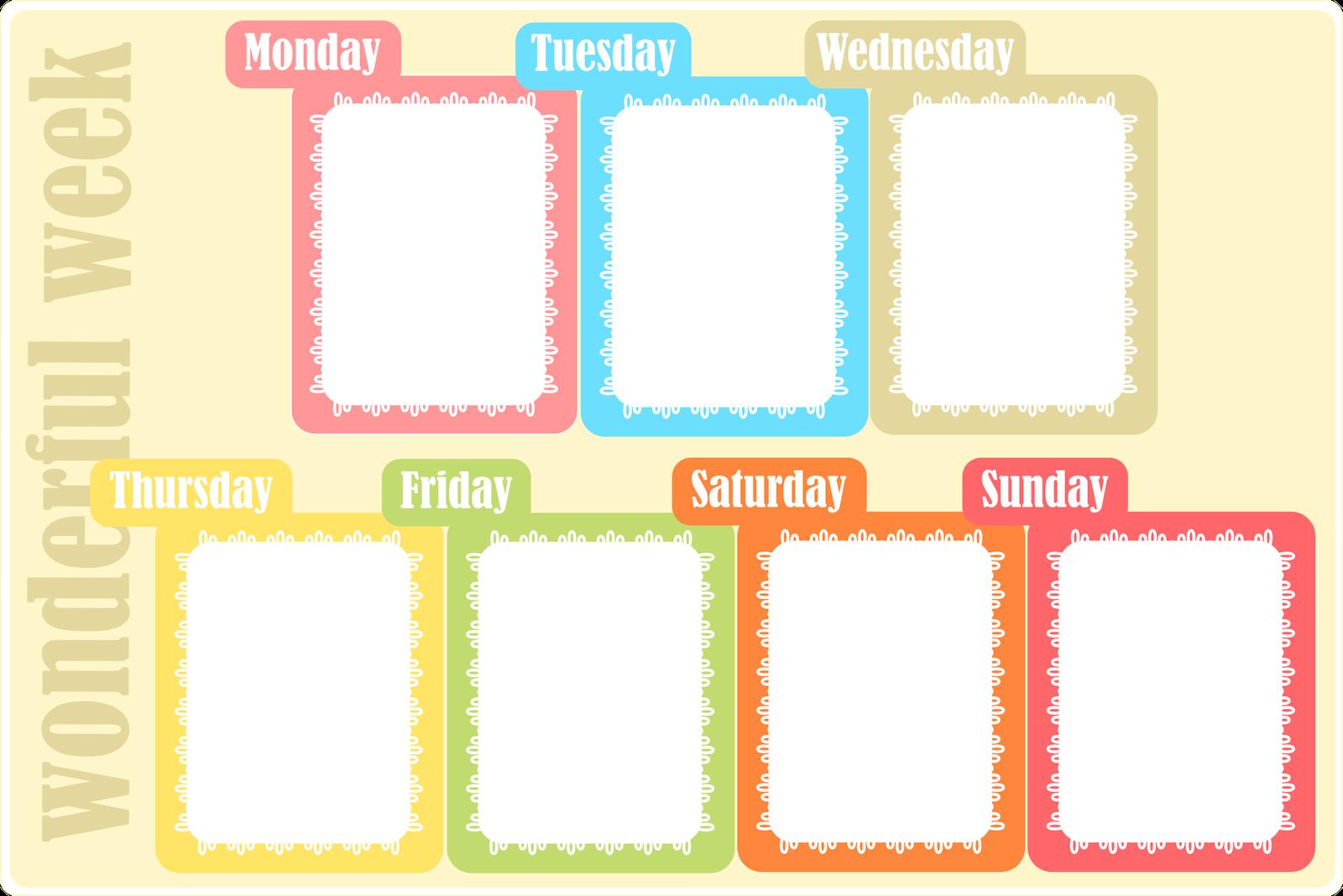 Weekly Calendar Template Kids : Free printable weekly planner ausdruckbarer wochenplan