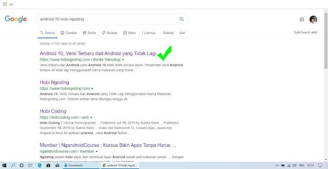Judul Artikel Sudah Terindex Google