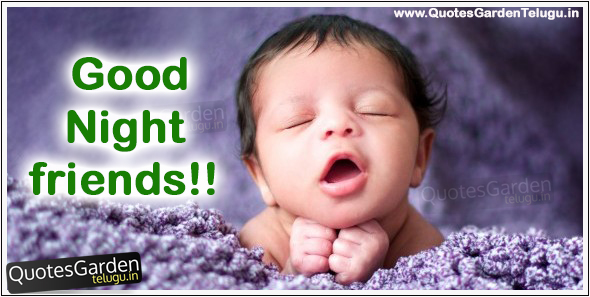 good night greetings with cute kid images