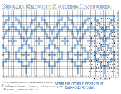 Mosaic Crochet Pattern Graph