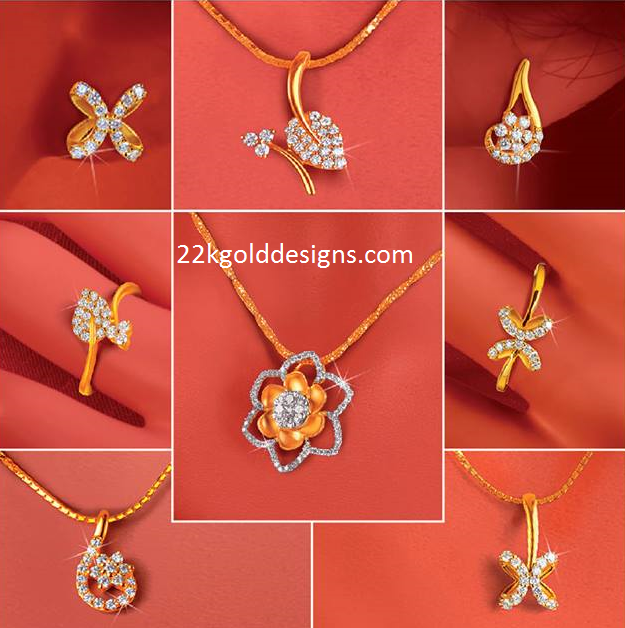 Daily Wear Diamond Pendants Sets with Price