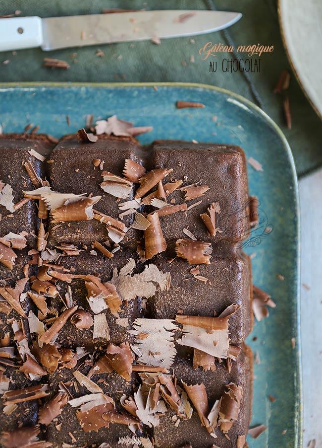 gateau magique chocolat