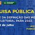 CONSULTA PÚBLICA: Participe da definição das Metas da Justiça Eleitoral para 2022!