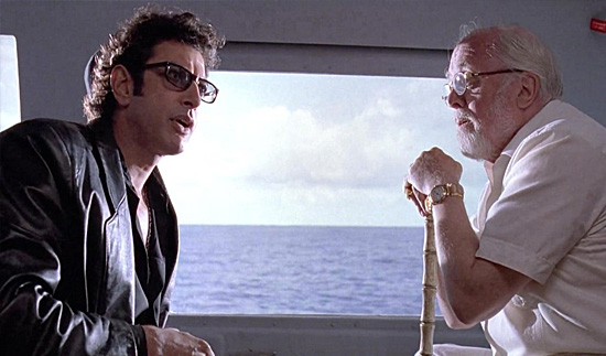 Jurassic Park - John Hammond e Ian Malcolm