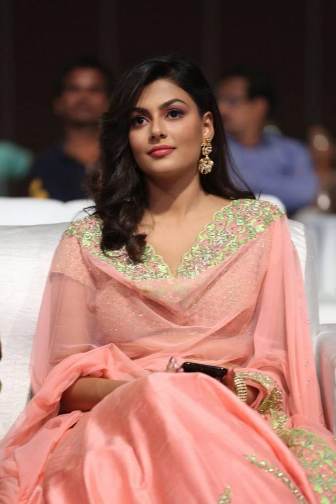 Visakhapatnam Beautiful Telugu Girl Stills In Pink Dress Anisha Ambrose