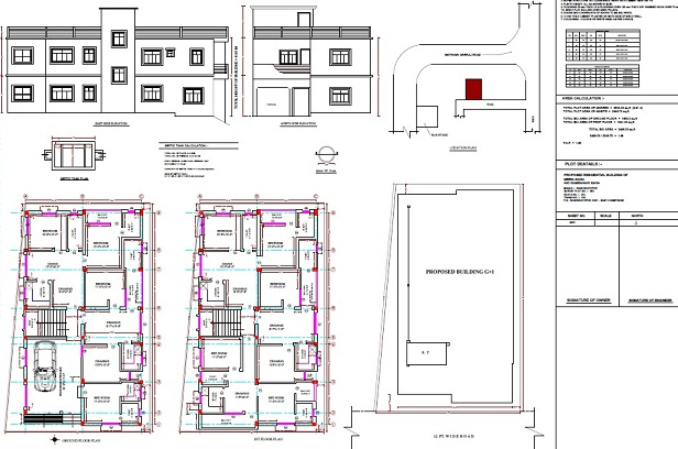 list of architectural drawings in hindi