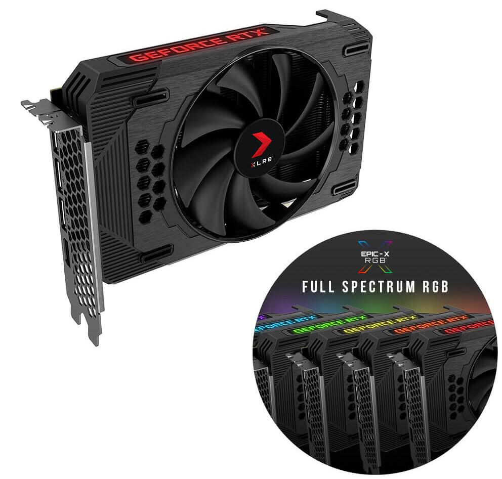PNY XLR8 GeForce RTX 3060 REVEL EPIC-X RGB Tek Fan Sürümü - Tam RGB Spektrumu