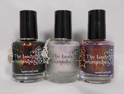 The Lady Varnishes Black Flame Candle, Fairy Queen, and Destiny