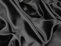 Siyah saten kumaş örneği