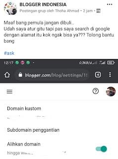 Kenapa sudah ganti domain custom saat searching di google tidak ada ?