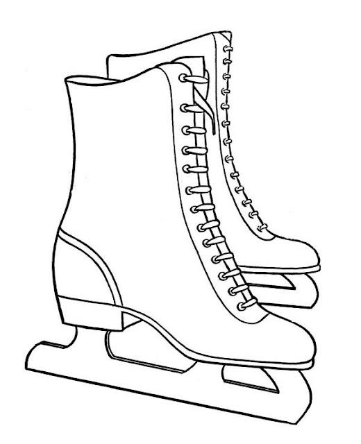 coloriage patins à glace