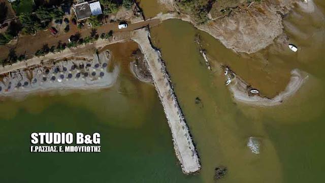 """Αργολίδα: Εικόνες αποκάλυψης στο Κιβέρι από το καταστροφικό πέρασμα του """"Ζορμπά"""" (βίντεο+drone)"""