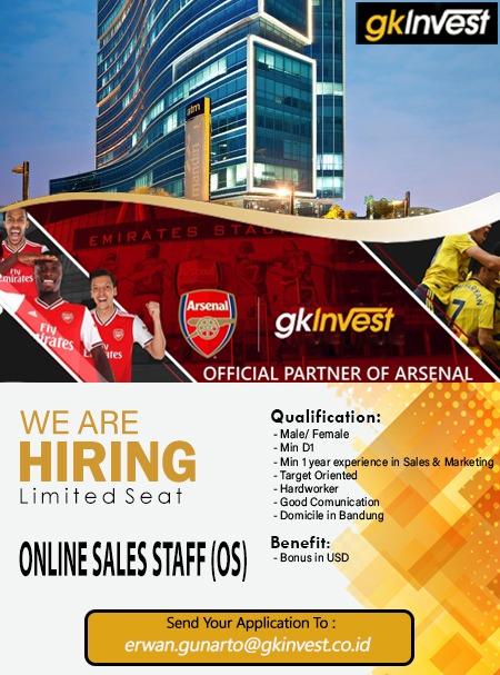 Lowongan Kerja GK Invest Bandung Januari 2021