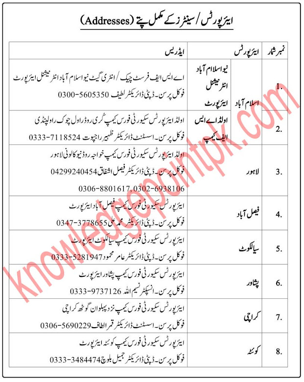Airport Security Force ASF Jobs 2021 - ASF Upcoming Jobs 2021- www.asf.gov.pk Jobs 2021 -  online Apply  2376 +  Vacancy