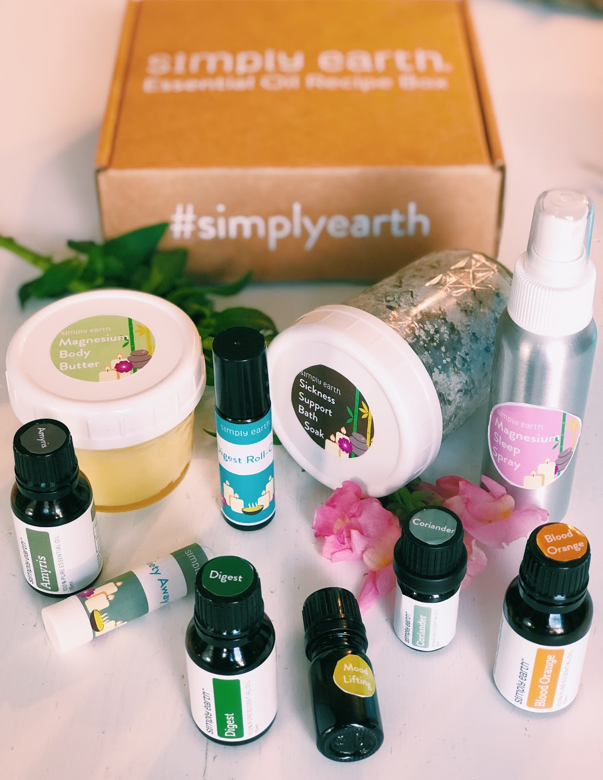 Simply Earth's Essential Oil Wellness Box For March