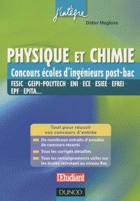 Télécharger Livre Gratuit Physique et chimie - Concours écoles d'ingénieurs post-bac pdf