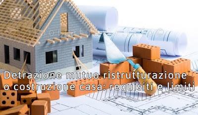 detrazione mutuo ristrutturazione costruzione