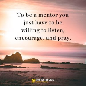 Mentoring Matters for Spiritual Growth by Rick Warren
