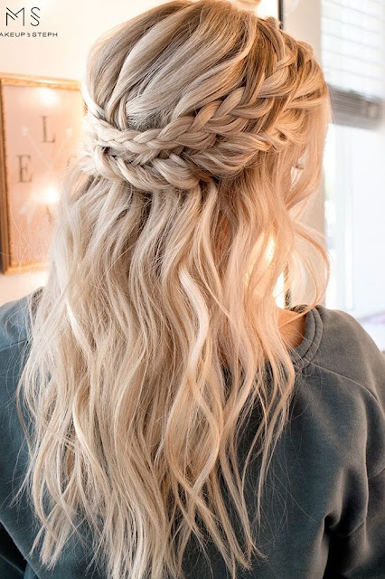 Long Bohemian Wedding Hairstyle