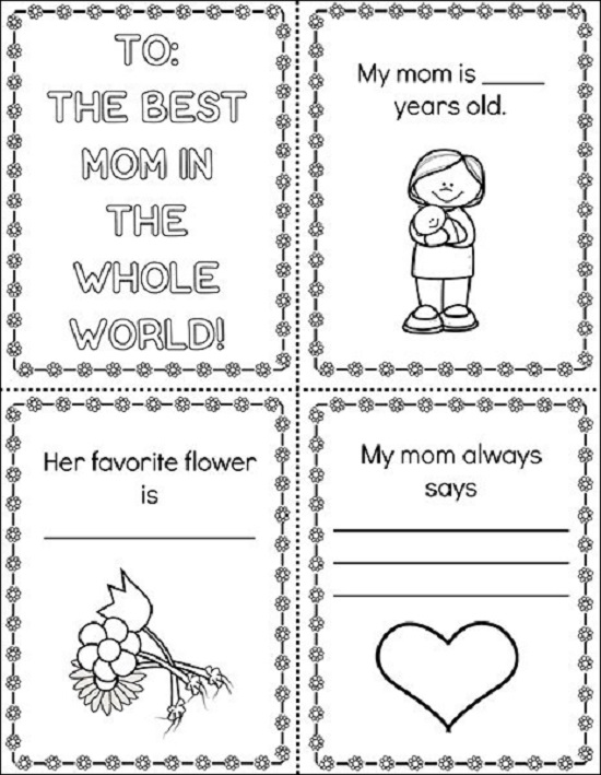 Printable Mother's Day booklet: To the best mom in the whole world