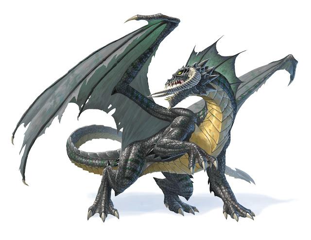 Los Dragones en Dungeons & Dragons - Dragón Negro