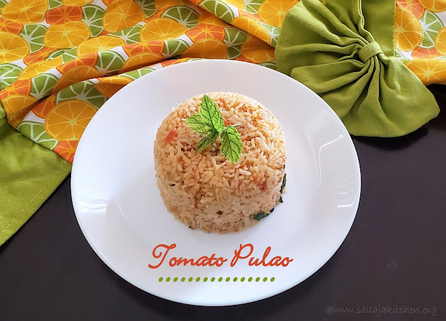 Quick Tomato Pulao / Tomato Pulao / Thakkali Pulao / Easy Lunch Box Recipes