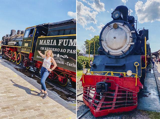 Trem do Vinho: Maria Fumaça em Bento Gonçalves