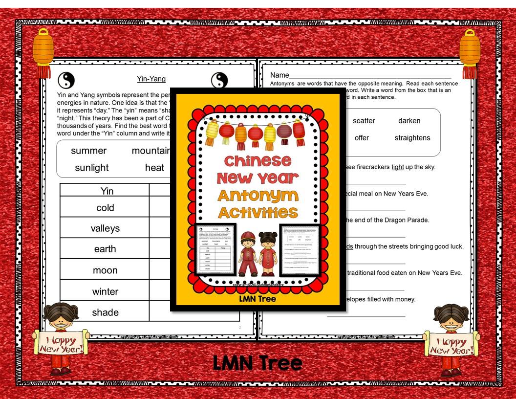 Chinese New Year Antonym Activities