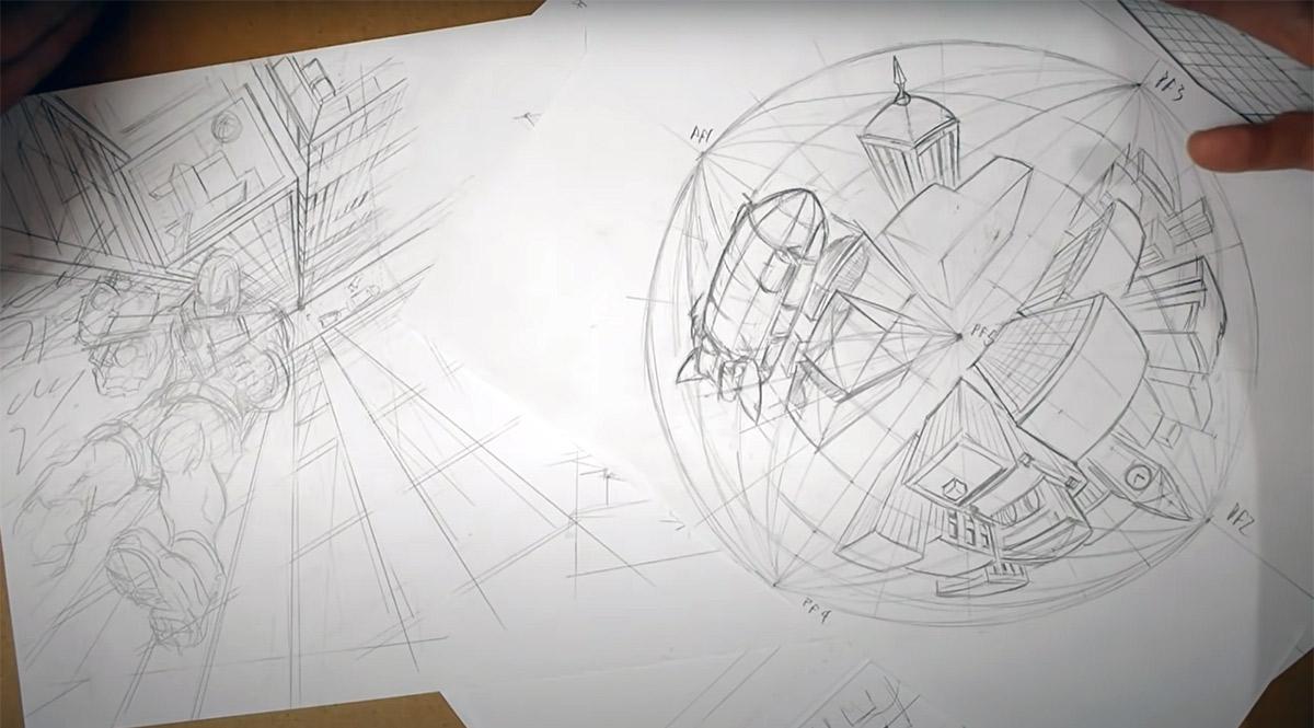Thiago Spyked compartilha tutorial que ensina como desenhar perspectiva de verdade