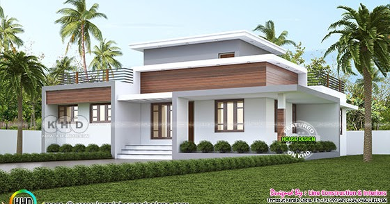 1300 square feet 3 bedroom flat roof house plan single ...