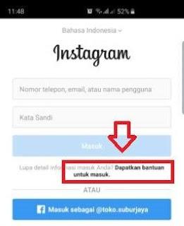 cara mengatasi akun instagram gagal login