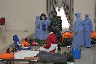 Sambut HUT ke-75 TNI AU, Lanud Supadio Gelar Donor Darah
