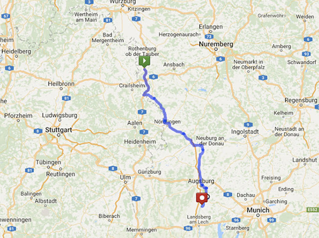 Cidades mais importantes da Rota Romântica na Alemanha