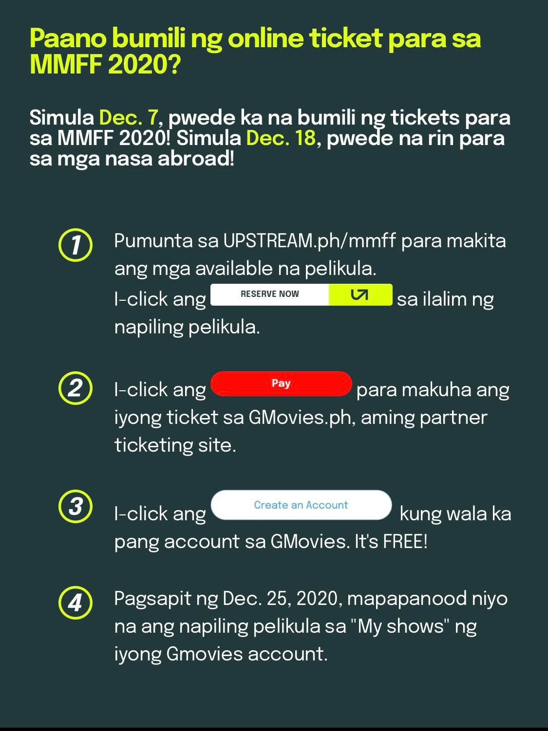 how to buy mmff 2020 movie tickets