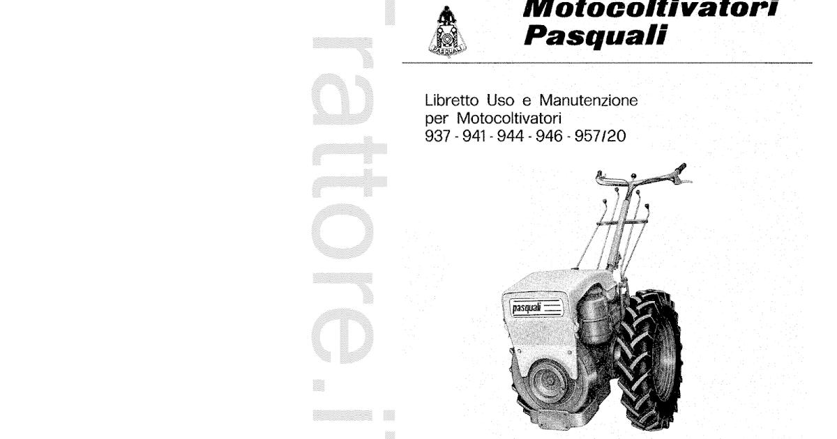 InfoTrattore.it: Motocoltivatore Pasquali 941 manuale