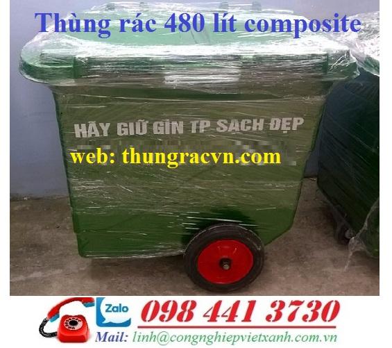 thùng rác nhựa 480 lít composite, thùng rác composite 480 lít, bán thùng rác giá rẻ, thùng rác nhựa 480 lít, thùng rác 480L, xe đẩy rác 480 lít