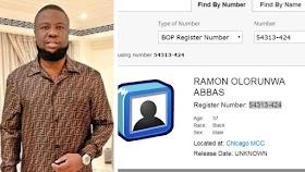 Hushpuppi released: Federal Bureau of Prisons website say Ramon Olorunwa Abbas former FBI prisoner is no longer in MCC Chicago inmate record