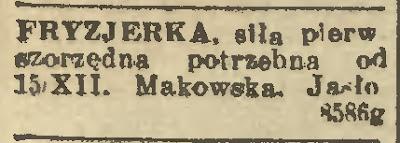 Jasło fryzjerka 1937
