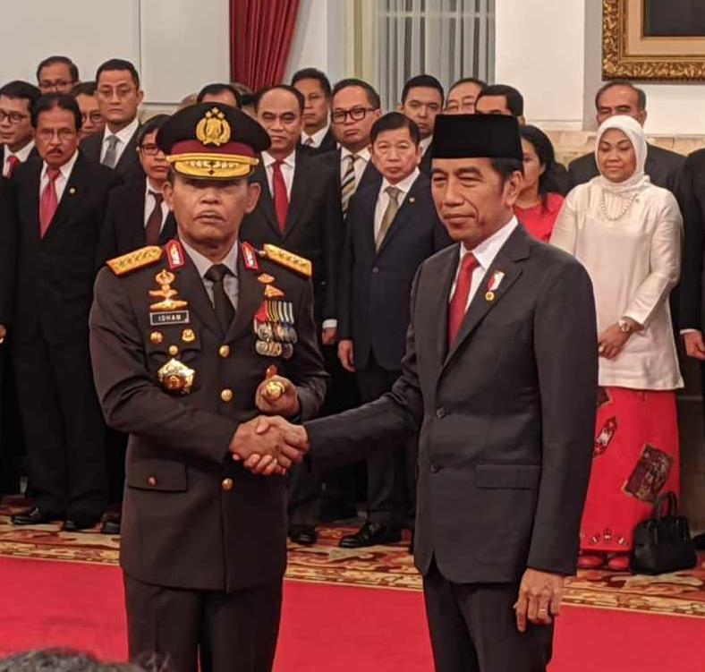 Presiden Jokowi Lantik Komjen Idham Azis Sebagai Kapolri