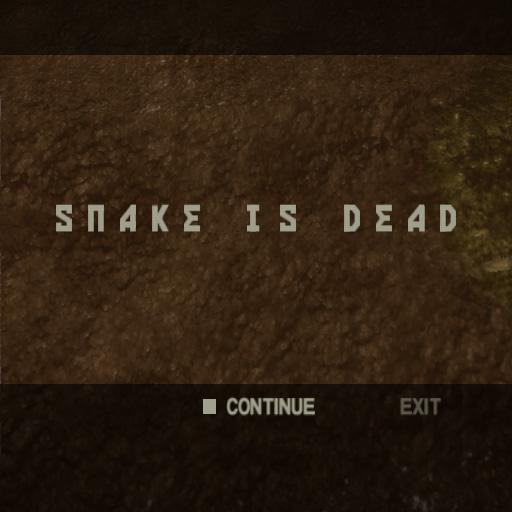 Metal Gear Solid 3 Snake Eater PlayStation 2 Snake is Dead Game Over
