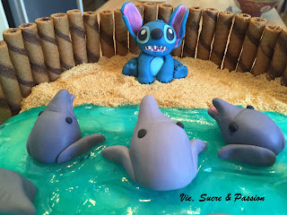 Stitch and Dolphins Cake