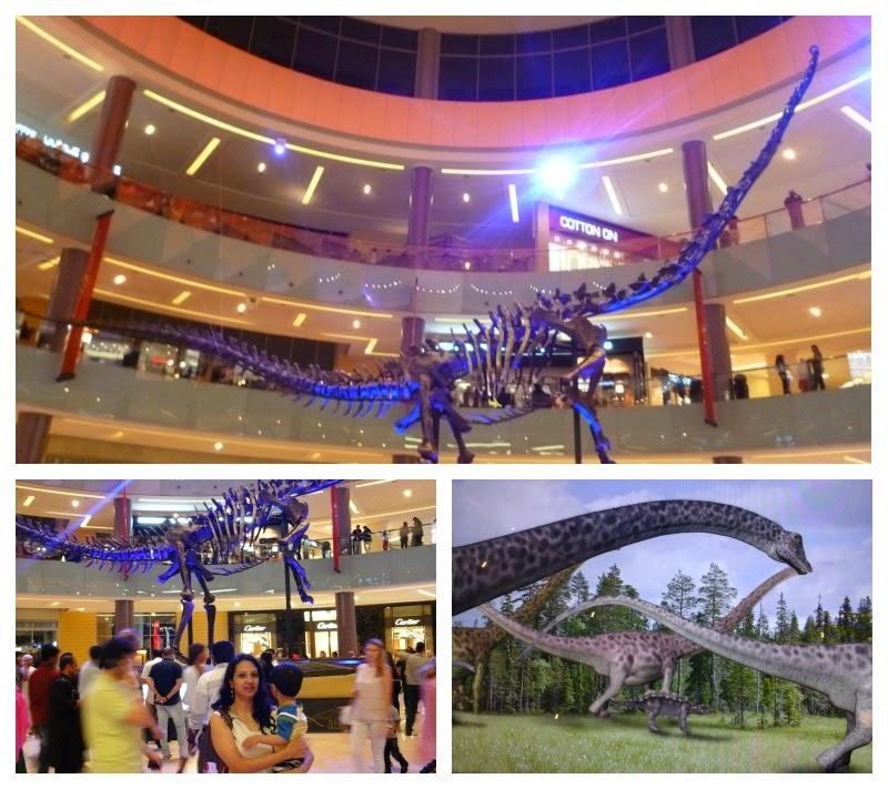 Dubai Mall dinosaur skeleton