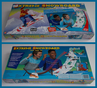 Boxed Game; Extreme Snowboard; Game; Game Counters; Game Playing Pieces; Mattel; Mattel Games; Mattel International; Mattel Toys; Playing Piece; Scenic Model; Small Scale World; smallscaleworld.blogspot.com; Snow Boarders; Snow Boarding; Snowboarders; Sports Figures; Sportsmen; Trees; Winter Sports;