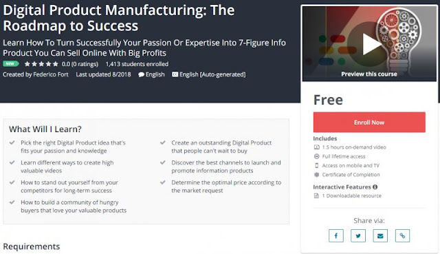 [100% Free] Digital Product Manufacturing: The Roadmap to Success