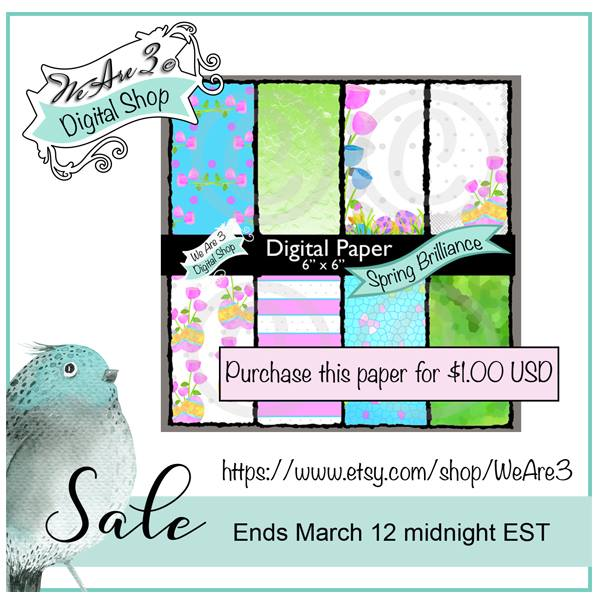 We are 3 paper collection on sale 9-12 March