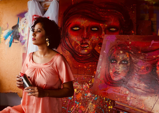 """AB Galeria anuncia segundo ato de """"Verão em quatro atos"""": """"Voz da artista"""" e seleção de projetos de grafite e street art."""