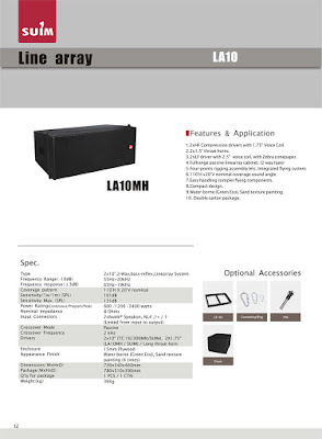 Spesifikasi Suim Line Array LA 10