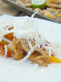 sheet pan pineapple chicken fajitas (sweetandsavoryfood.com)